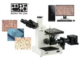 4XC 三目倒置金相显微镜